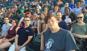 On August 1, 2017, MFOC members spent the evening watching a Lansing Lugnuts game to celebrate their year of service and their accomplishments