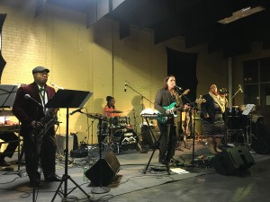 The Mitch Myers Band performs on Friday, November 3, 2017 at LINC UP's First Friday event