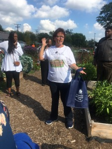 Learning about the history of the Warrendale Community Garden!